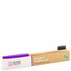Bamboo Toothbrush - Purple - Spotlight Oral Care